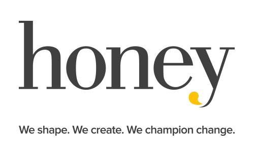 Honey logo and strapline