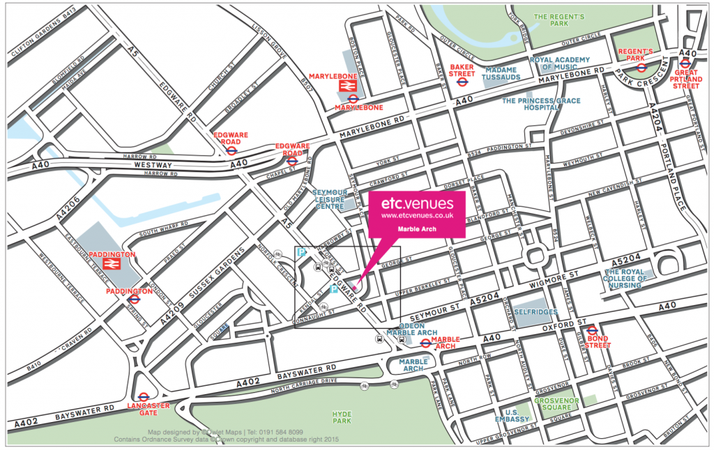 etc venue Marble Arch map